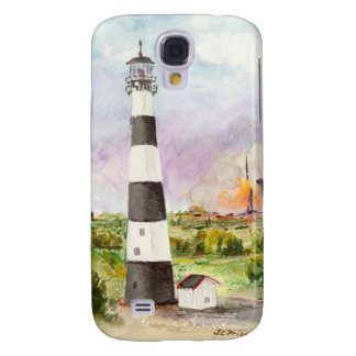 Cape Canaveral Lighthouse Rocket Launch Watercolor Samsung Galaxy S4 Cover