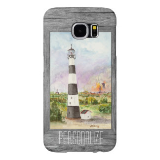 Cape Canaveral Lighthouse Rocket Launch Watercolor Samsung Galaxy S6 Cases