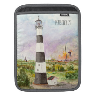 Cape Canaveral Lighthouse Rocket Launch Watercolor Sleeves For iPads