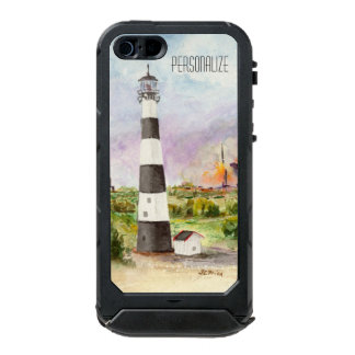 Cape Canaveral Lighthouse Rocket Launch Watercolor Waterproof iPhone SE/5/5s Case