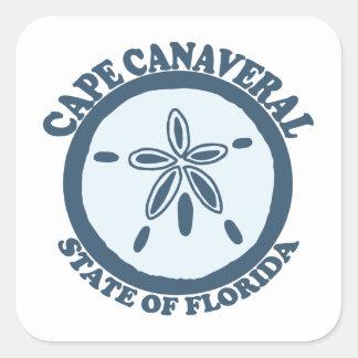 Cape Canaveral - Sand Dollar. Square Sticker