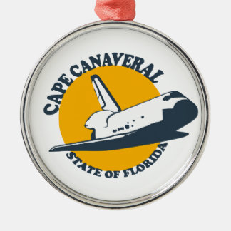 Cape Canaveral - Shuttle. Metal Ornament