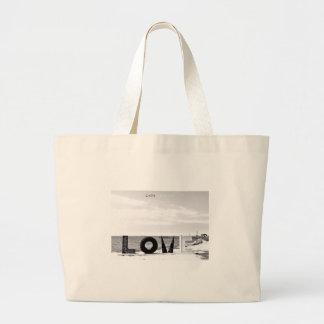 Cape Charles - Love. Large Tote Bag