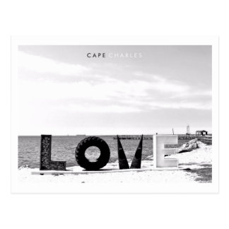 Cape Charles - Love. Postcard