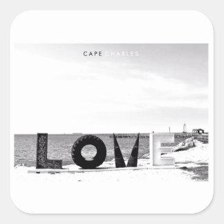 Cape Charles - Love. Square Sticker
