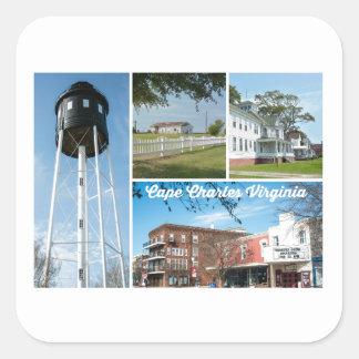 Cape Charles. Square Sticker