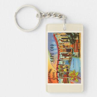 Cape Cod #2 Massachusetts MA Old Travel Souvenir Keychain
