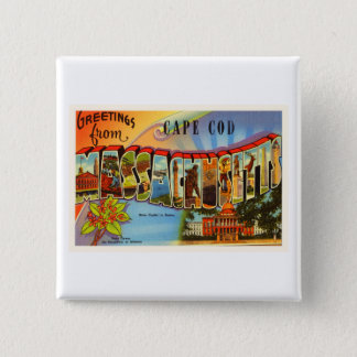 Cape Cod #2 Massachusetts MA Old Travel Souvenir Pinback Button