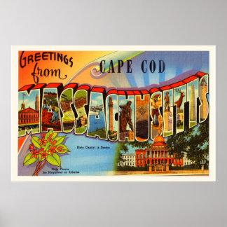 Cape Cod #2 Massachusetts MA Old Travel Souvenir Poster