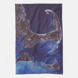Cape Cod Aerial Photograph Kitchen Towel