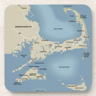 Cape Cod and the Islands Drink Coaster