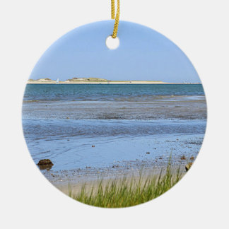 Cape Cod Bay ocean beach Ceramic Ornament