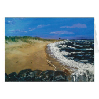 Cape Cod beach at dusk Stationery Note Card