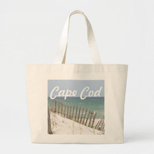 66d9bb147eae Cape Cod beach photo Large Tote Bag