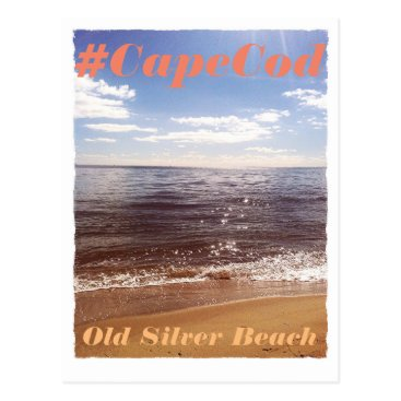 Beach Themed Cape Cod beach postcard, vintage look, seaside Postcard