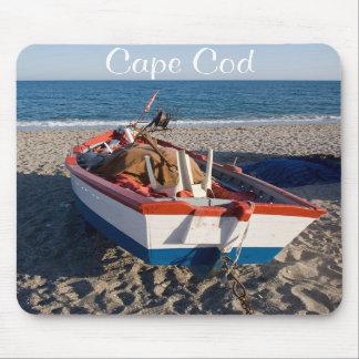 Cape Cod Boat on the Beach Ocean Scene Mousepad