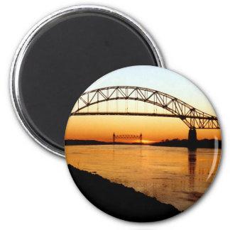 Cape Cod Bourne Bridge 2 Inch Round Magnet