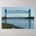 Cape Cod Canal Bridges Photograph Poster