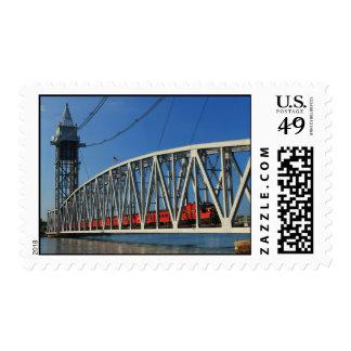 Cape Cod Canal Railroad Bridge and Train Postage