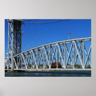 Cape Cod Canal Railroad Bridge Locomotive Poster