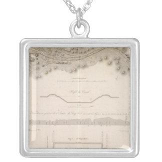 Cape Cod Canal Square Pendant Necklace