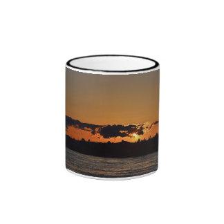 Cape Cod Canal Sunset Ringer Mug