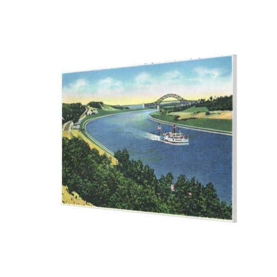 Cape Cod Canal View of Sagamore Bridge Canvas Print