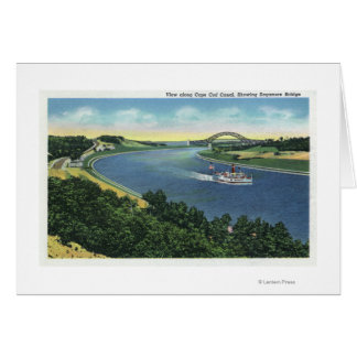 Cape Cod Canal View of Sagamore Bridge Cards