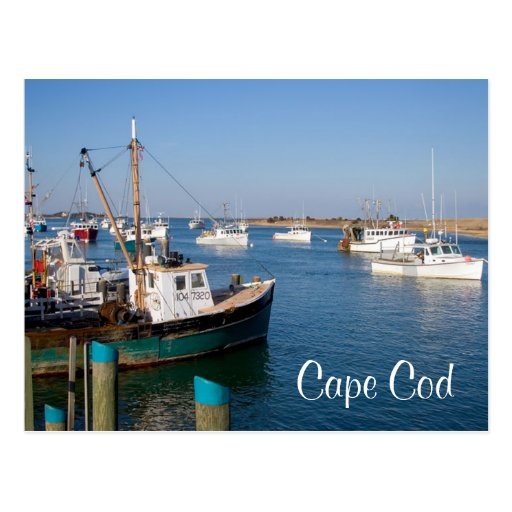 Cape Cod Chatham Mass Boats in Bay  Post Card