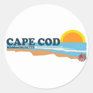 Cape Cod. Classic Round Sticker