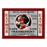 Cape Cod Cranberry Santa Card