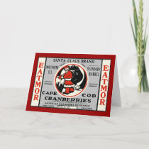 Cape Cod Cranberry Santa Holiday Card