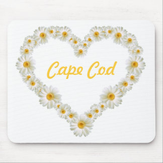 Cape Cod Daisies Heart Mousepad