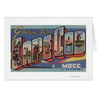 Cape Cod, escenas de la letra de MassachusettsLarg Tarjeta De Felicitación