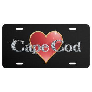 "Cape Cod Faux-""Diamond"" Bling License Plate"