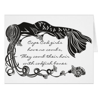 """Cape Cod Girls"" Mermaid Greeting Card"