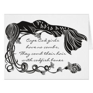 """Cape Cod Girls"" Mermaid Greeting Card"
