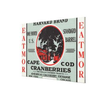Cape Cod Harvard Eatmor Cranberries Brand Stretched Canvas Print