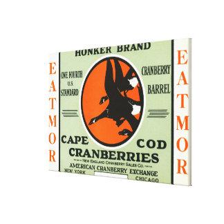 Cape Cod Honker Eatmor Cranberries Brand Label Canvas Print