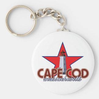 Cape Cod Lighthouse Basic Round Button Keychain