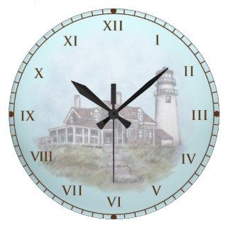 Cape Cod Lighthouse Wall Clock