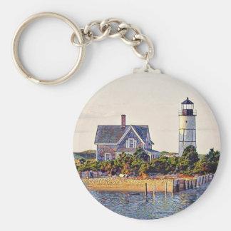 Cape Cod Lighthouse Gift Keychain