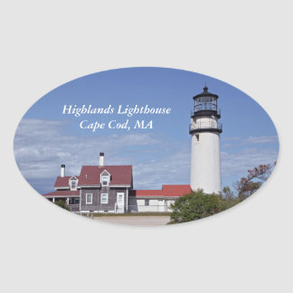 Cape Cod Lighthouse Oval Sticker