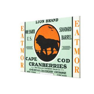 Cape Cod Lion Eatmor Cranberries Brand Label Canvas Print