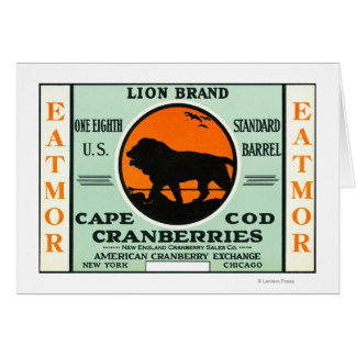 Cape Cod Lion Eatmor Cranberries Brand Label Cards