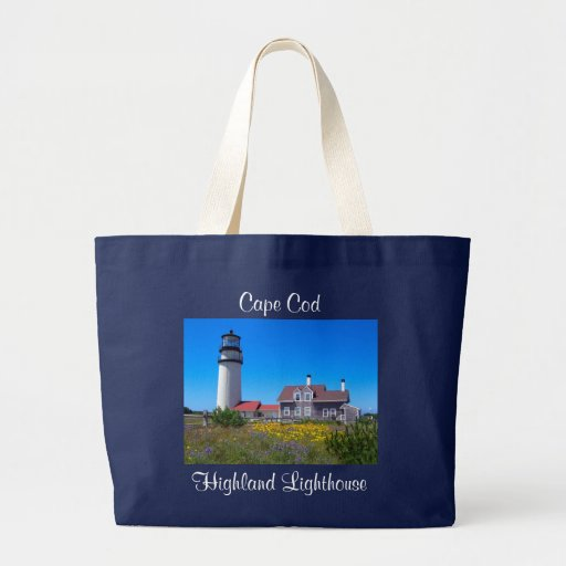 Cape Cod MA Highland Lighthouse Canvas Tote Bag