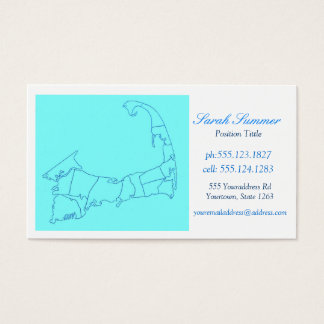 Cape Cod MA Map Business Cards