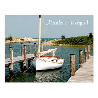 Cape Cod MA Martha's Vineyard  Harbor Post Card