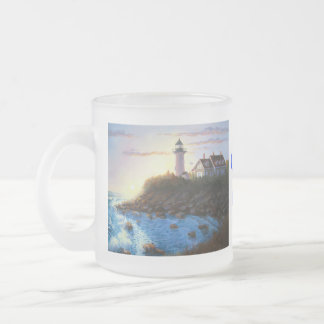 Cape Cod MA Nobska Lighthouse Frosted Coffee Mug