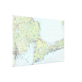 Cape Cod Map (1986) Canvas Print